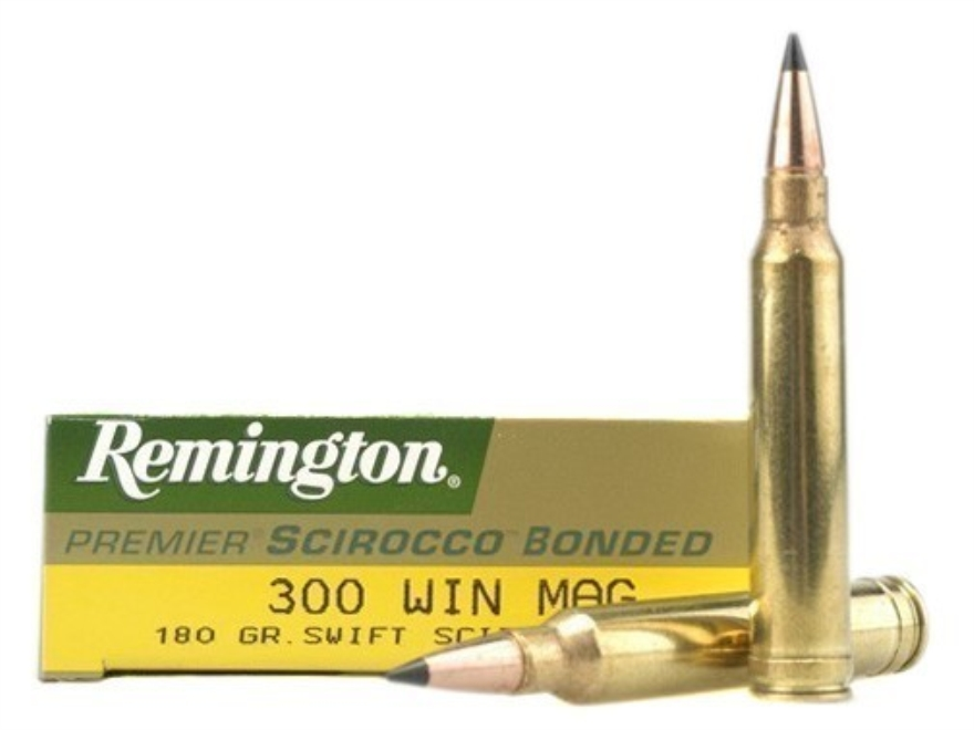 Remington Premier Ammunition 300 Winchester Magnum 180 Grain Swift Scirocco Polymer Tip...