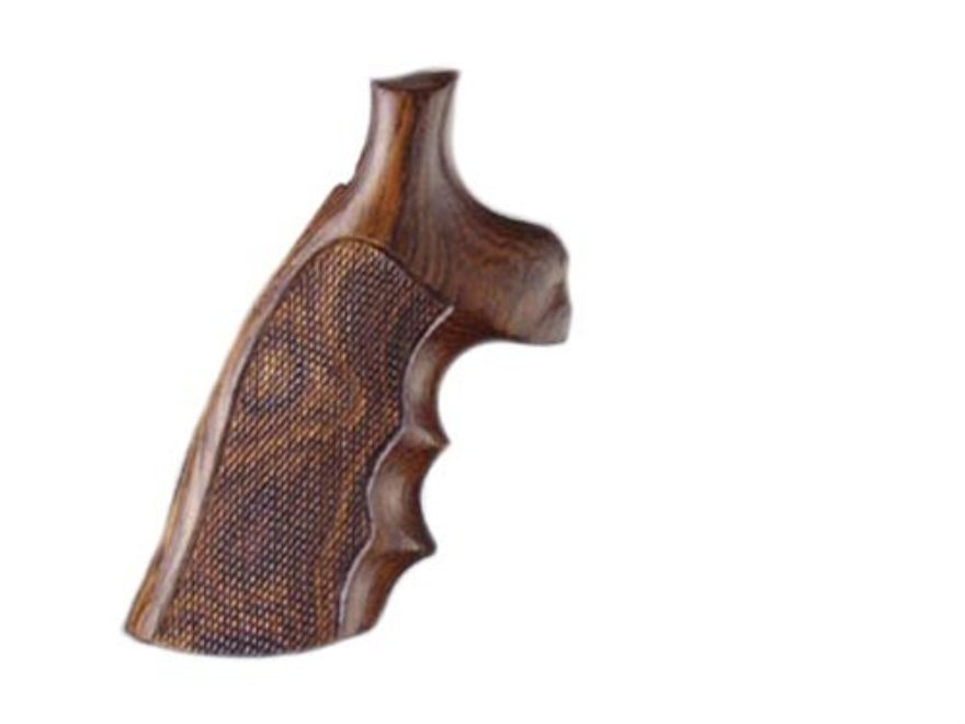 Hogue Fancy Hardwood Grips with Finger Grooves Taurus Medium and Large Frame Revolvers Square Butt Checkered