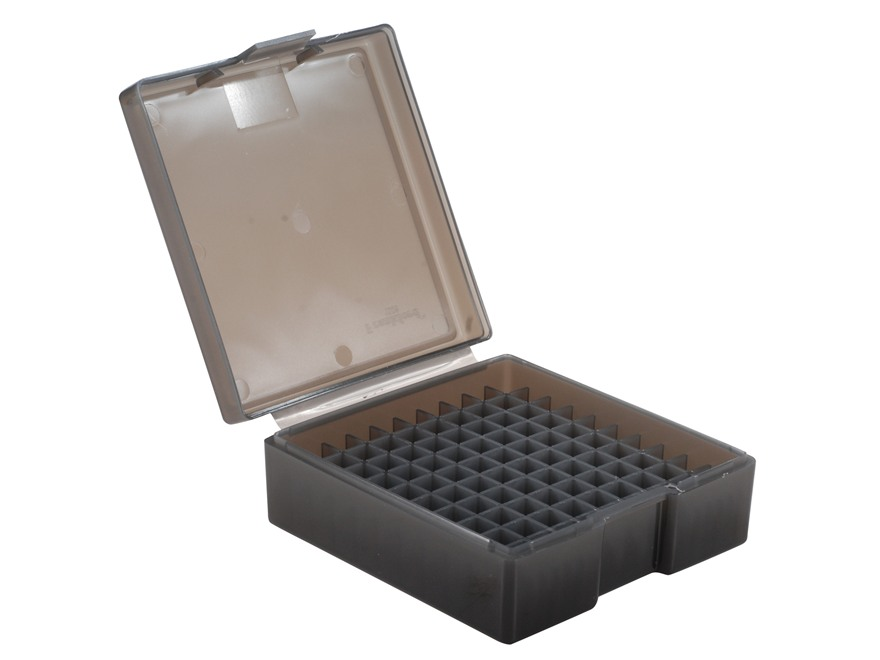Frankford Arsenal Flip-Top Ammo Box #1003 38 Special, 357 Magnum 100-Round Plastic Smoke Box of 10