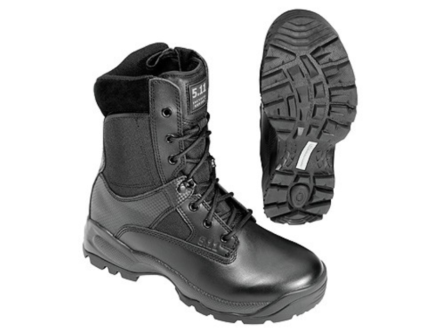 "5.11 ATAC Storm 8"" Waterproof Uninsulated Tactical Boots Leather and Nylon Side Zip Black Men's"