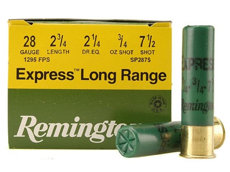 "Remington Express Ammunition 28 Gauge 2-3/4"" 3/4 oz #7-1/2 Shot Box of 25"
