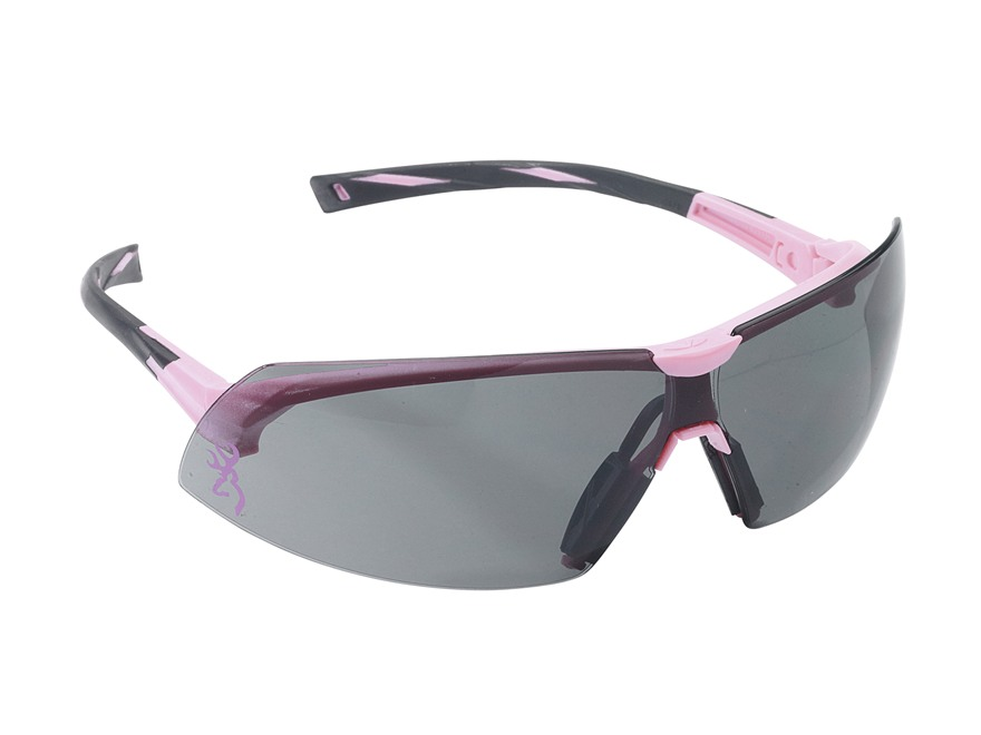 Browning Buckmark For Her Shooting Glasses Pink Frame Smoke Lens