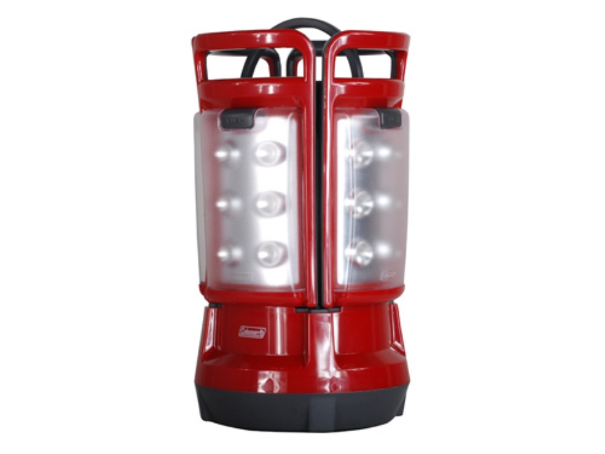 Coleman Quad Lantern LED Requires 8 D Batteries Polymer Red and Gray