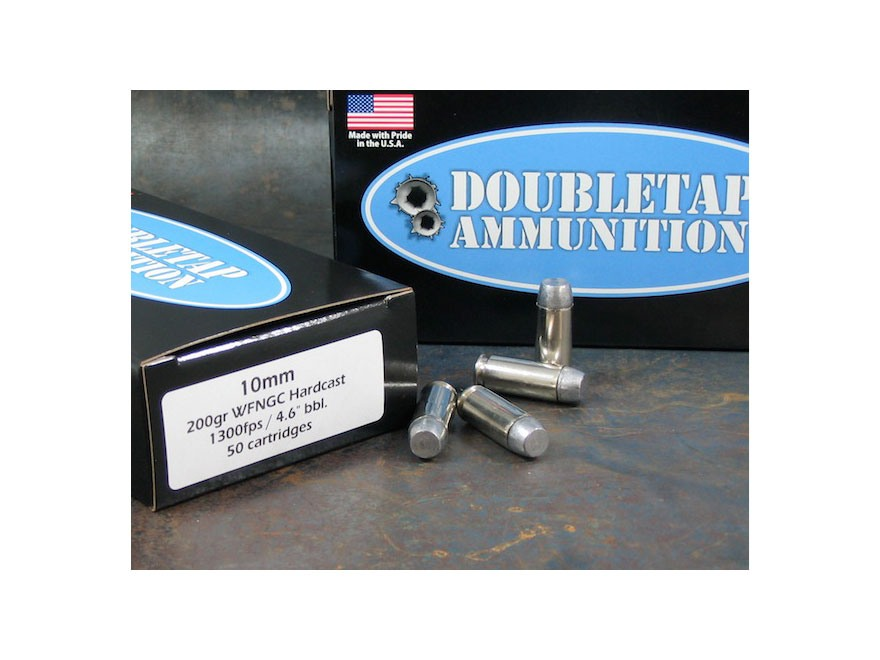 Doubletap Ammunition 10mm Auto 200 Grain Lead Wide Flat Nose Gas Check