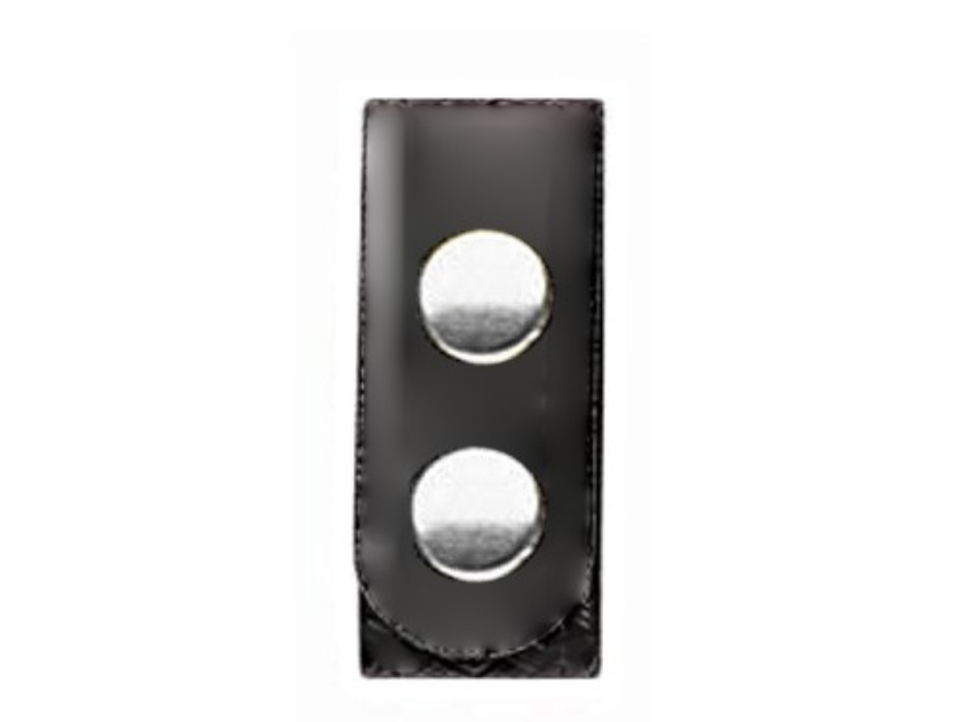 Bianchi 7906 Elite Belt Keeper Chrome Snap High-Gloss Synthetic Leather Black Package of 4