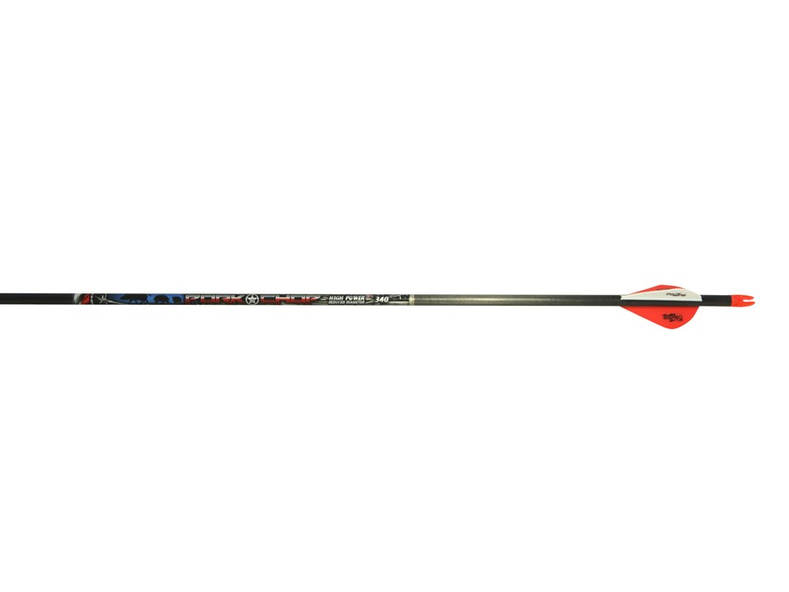 "Beman Pork Chop Carbon Arrow with 2"" Blazer Vanes Pack of 6"