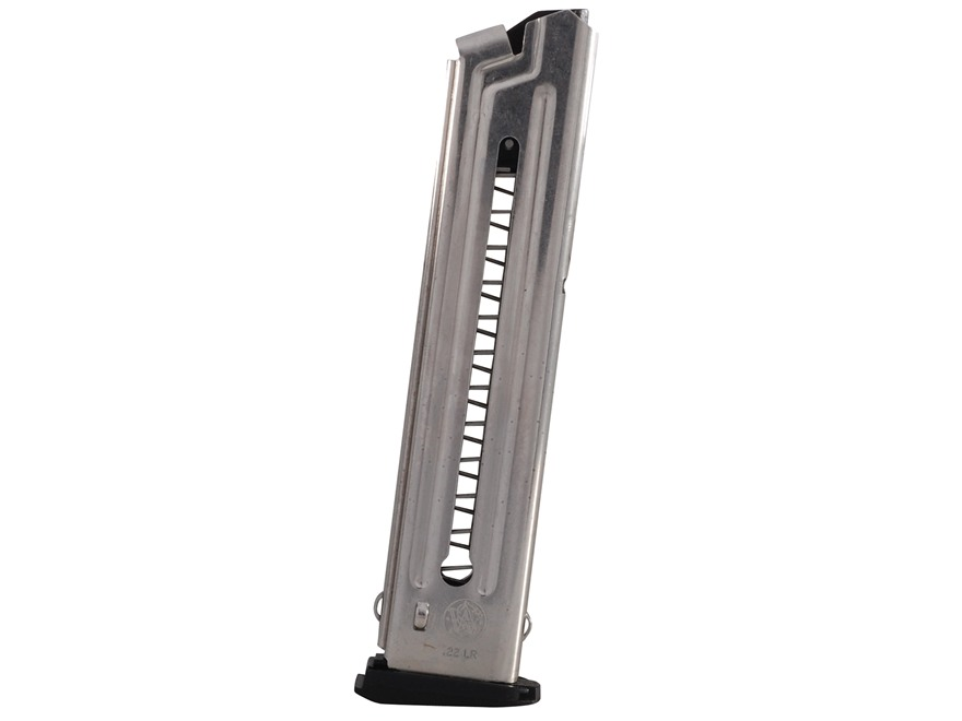 Smith & Wesson Magazine S&W 22A, 22S 22 Long Rifle 10-Round Stainless Steel