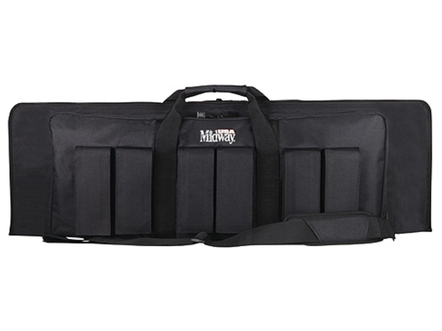 "MidwayUSA Pro Series Tactical Rifle Case 43"" PVC Coated Polyester Black"