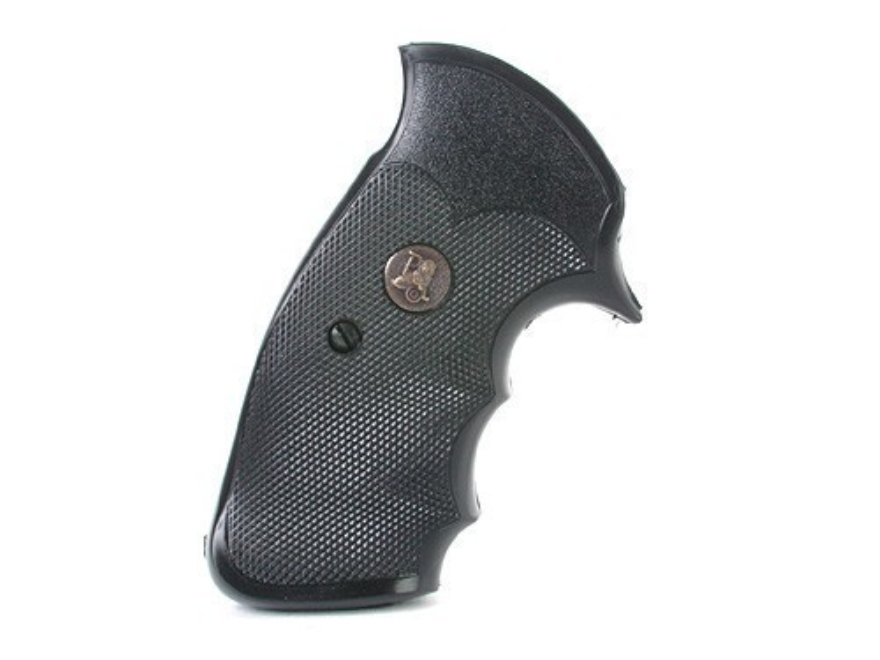 Pachmayr Gripper Professional Grips S&W K, L-Frame Square Butt Rubber Black