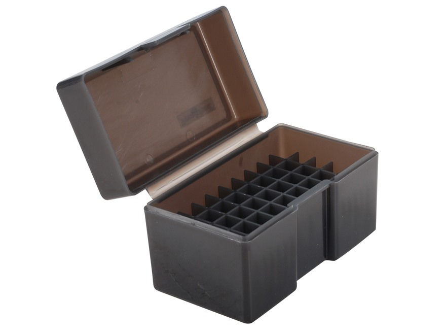 Frankford Arsenal Flip-Top Ammo Box #505 17 Remington, 204 Ruger, 223 Remington 50-Round Plastic Smoke Box of 10