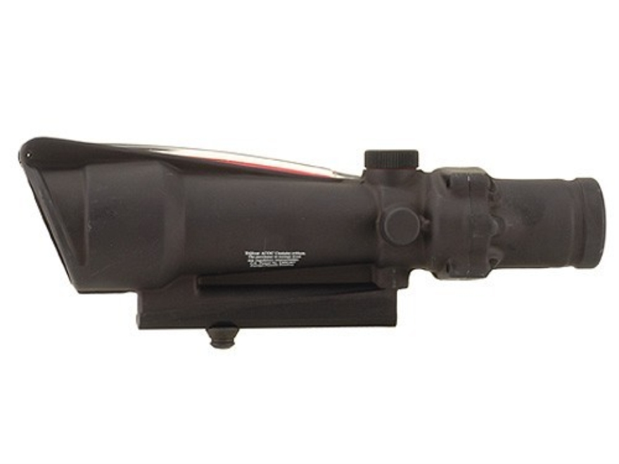 Trijicon ACOG TA11 BAC Rifle Scope 3.5x 35mm Dual-Illuminated Red Donut with AR-15 Carry Handle Base Matte