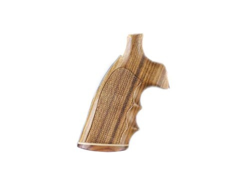 Hogue Fancy Hardwood Grips with Accent Stripe, Finger Grooves and Contrasting Butt Cap Ruger Blackhawk, Single Six, Vaquero Checkered