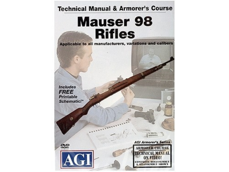 "American Gunsmithing Institute (AGI) Technical Manual & Armorer's Course Video ""Mauser 98 Rifles"" DVD"