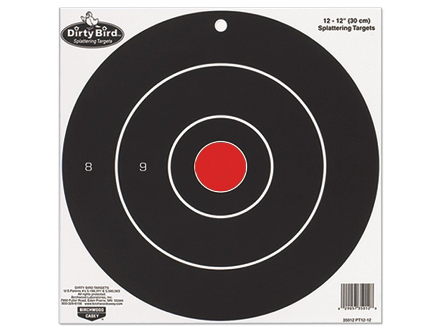 "Birchwood Casey Dirty Bird 17.25"" Bullseye Targets Pack of 5"