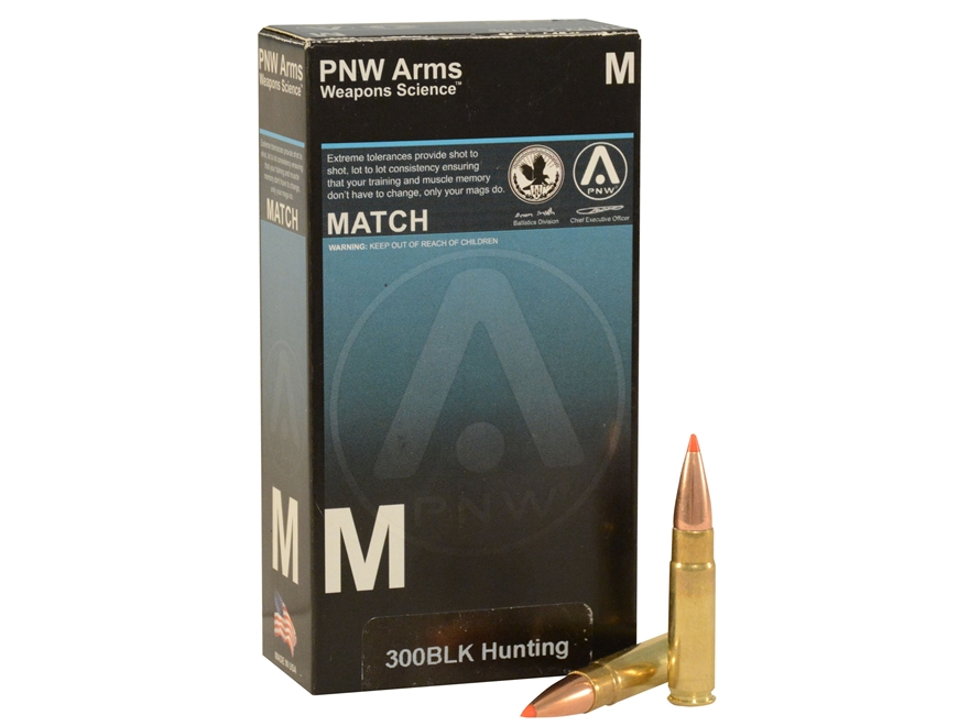 PNW Arms Ammunition 300 AAC Blackout 125 Grain Hornady SST Box of 20