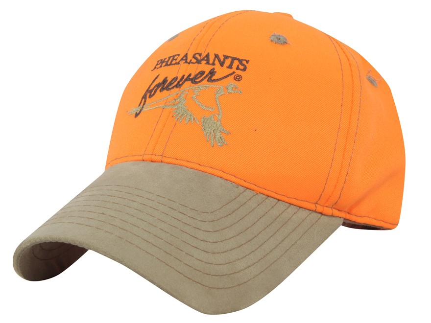 Pheasants Forever Logo Cap Cotton Blaze Orange and Brown