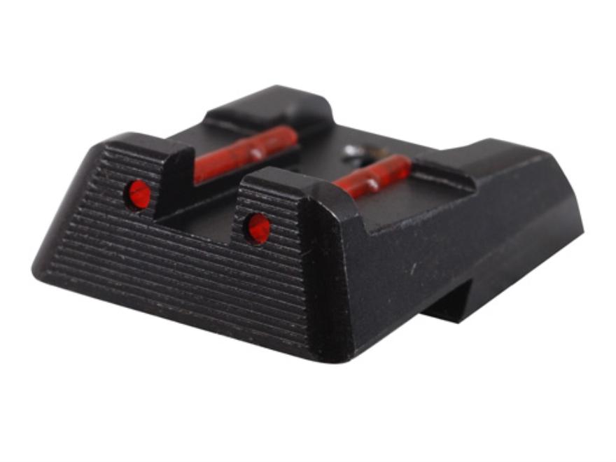HIVIZ Rear Sight HK HK45, HK45C, HK-P30, HK-P30L, VP9, VP40 Steel Fiber Optic Red