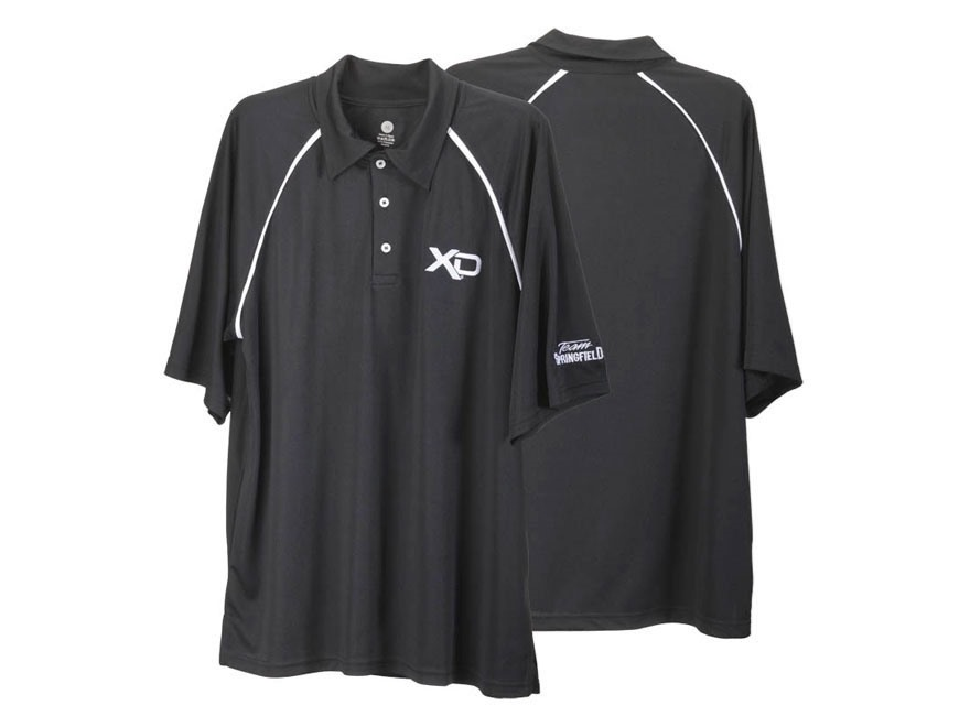 "Springfield Armory XD Polo Shirt Short Sleeve Mesh Synthetic Blend Black XL (48"")"