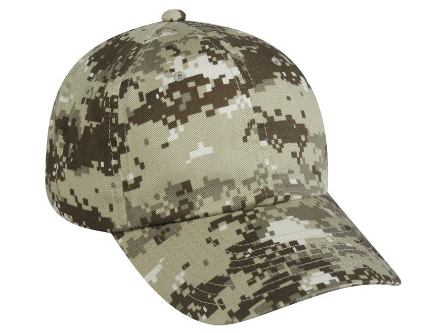 Outdoor Cap Low Profile Cap Cotton Khaki Digital Camo
