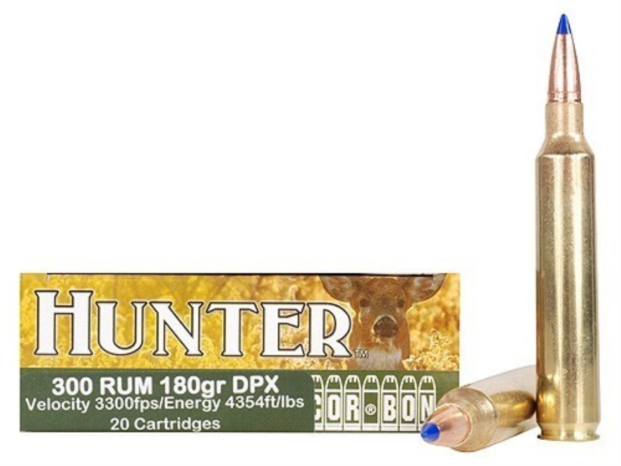 Cor-Bon DPX Hunter Ammunition 300 Remington Ultra Magnum 180 Grain Tipped DPX Lead-Free Box of 20