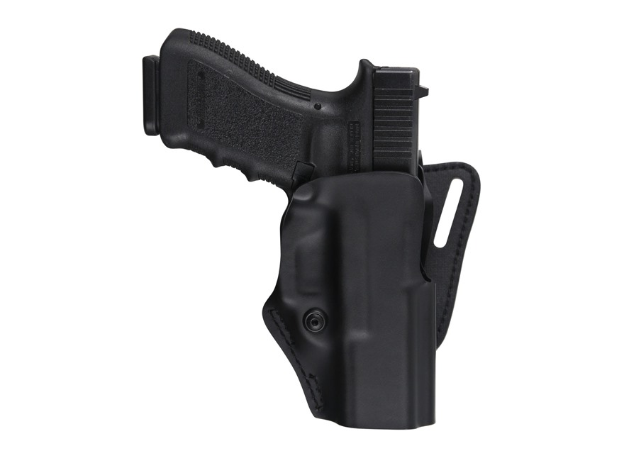 "Safariland 5195 Low Ride Offset Belt Loop Holster with Detent Right Hand S&W M&P 9mm, 40 S&W 4.25"" Barrel Polymer Black"