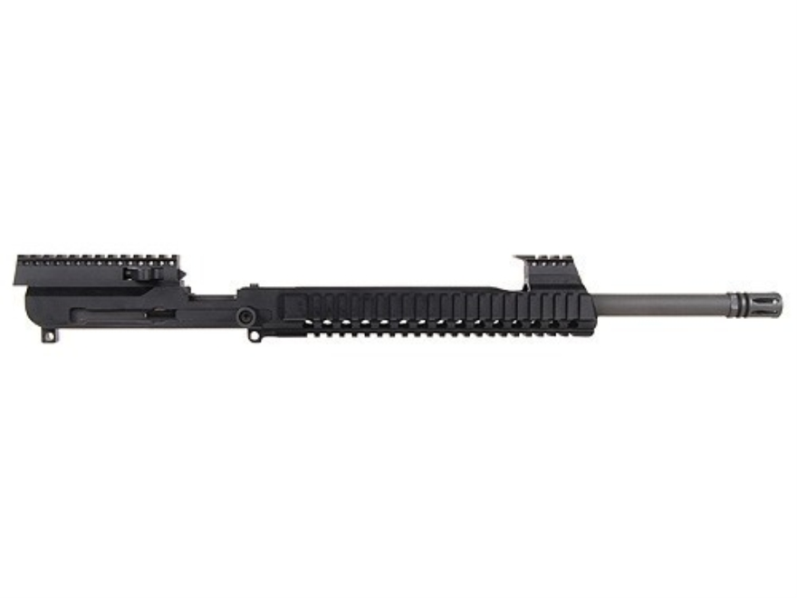 "AR57 AR-15 AR57 Upper Assembly 5.7x28mm FN 1 in 8 1/2"" Twist 16"" Barrel Chrome Moly with Free Float Quad Rail Handguard, Flash Hider,"