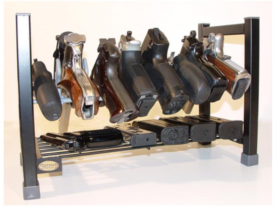 HySkore Mega Stacking Pistol Rack Metal Black