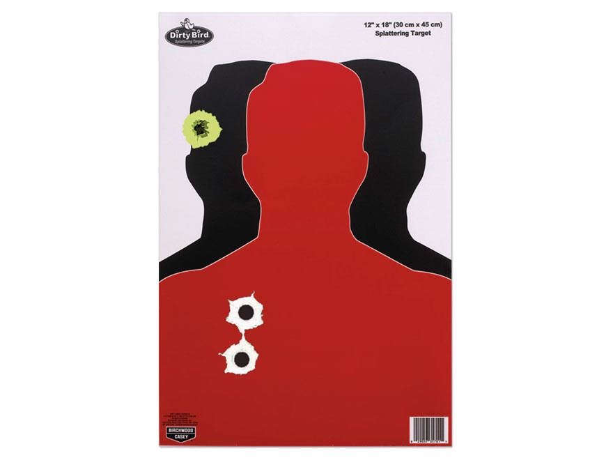 "Birchwood Casey Dirty Bird 12"" x 18"" Hostage Targets Pack of 8"