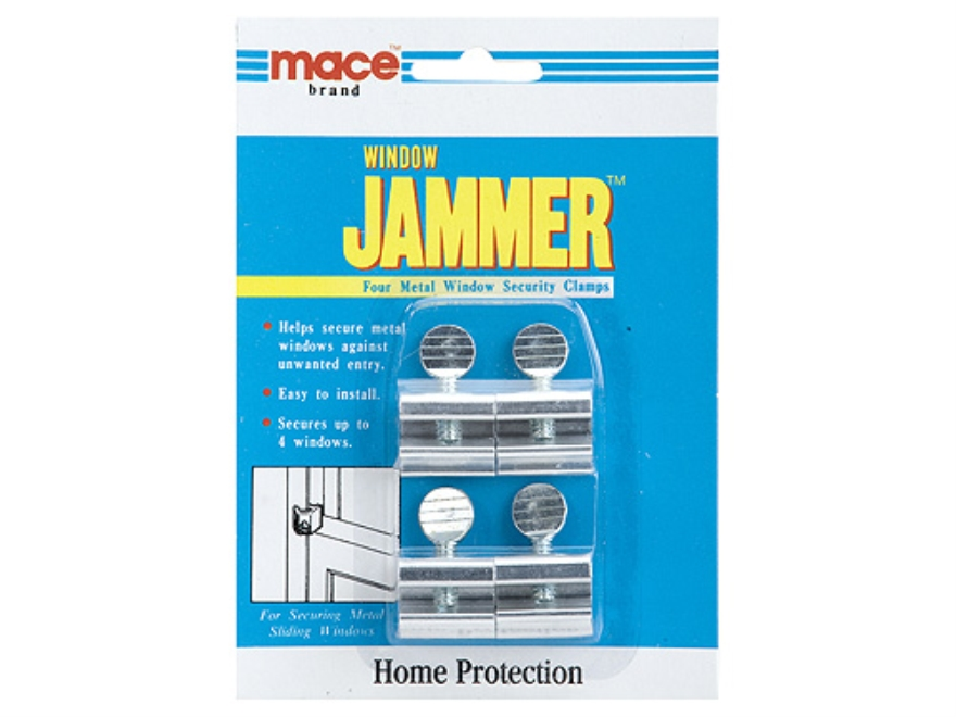 Mace Brand Window Security Clamps Home Security Includes 4 Window Clamps Steel