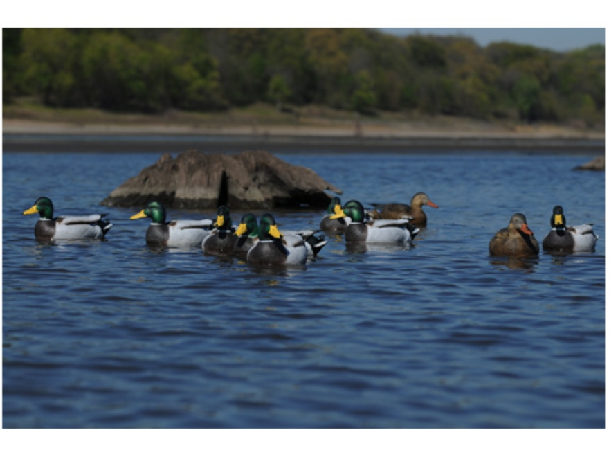GHG Pro-Grade Weighted Keel January Mallard Duck Decoys Active Pack of 6