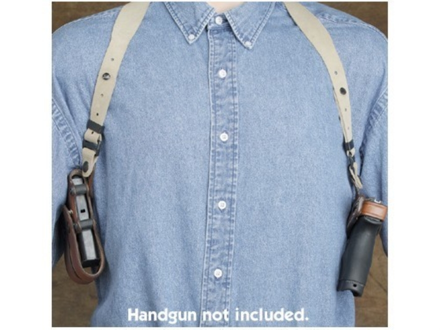 Hunter 5100 Pro-Hide Shoulder Holster and Harness Right Hand Glock 19, 23 Leather Brown