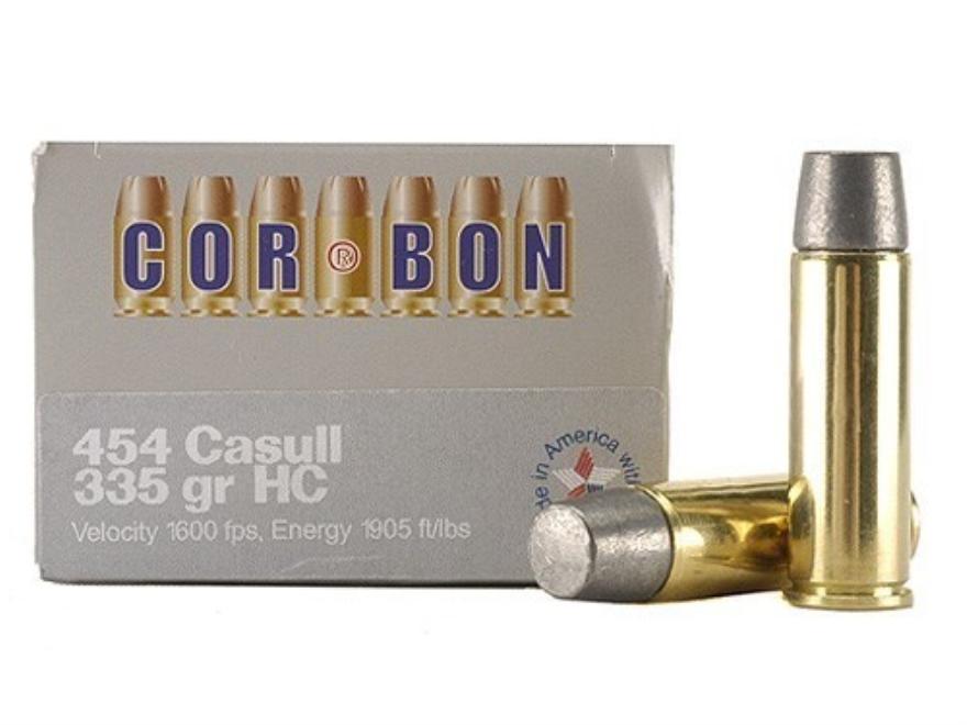 Cor-Bon Hunter Ammunition 454 Casull 335 Grain Hard Cast Lead Flat Nose Box of 20