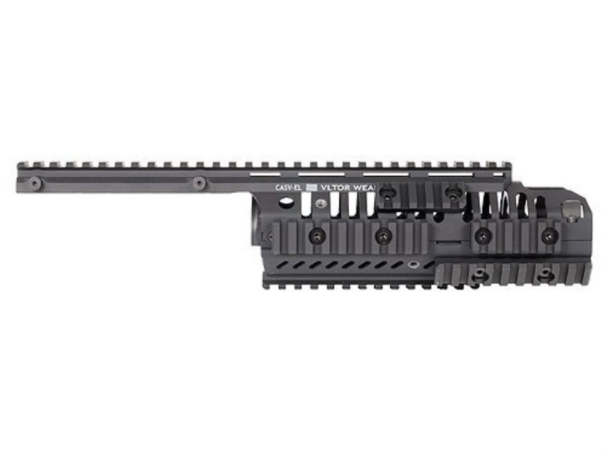 Vltor CASV-EL Free Float Modular Rail Handguard with Full Picatinny Rail Kit AR-15 Extended Carbine Length Aluminum Black