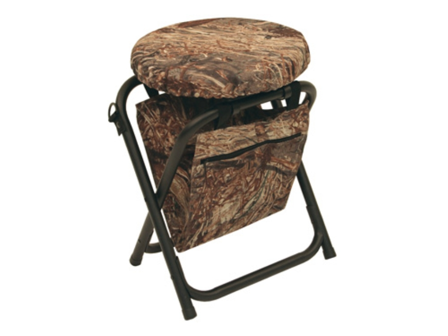 Alps Outdoorz Horizon 360 Degree Swivel Stool Steel Frame Nylon Seat Mossy Oak Duck Bli...