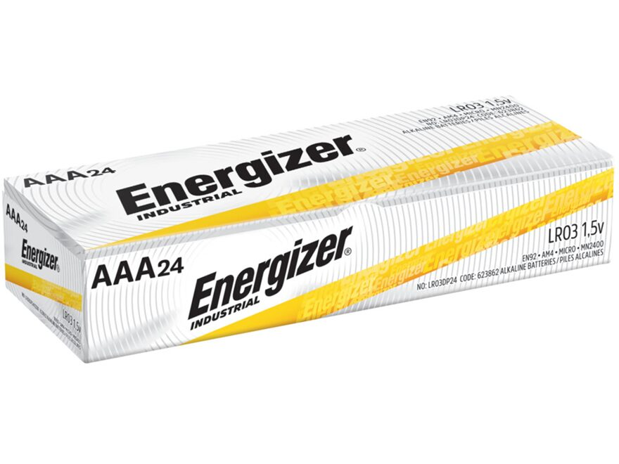 Energizer Battery AAA Industrial Alkaline EN92 Pack of 24