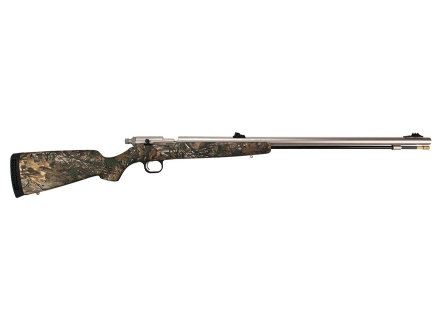 "Knight Bighorn Muzzleloading Rifle 50 Caliber 26"" Stainless Steel Barrel Synthetic Stock Realtree Xtra Camo"