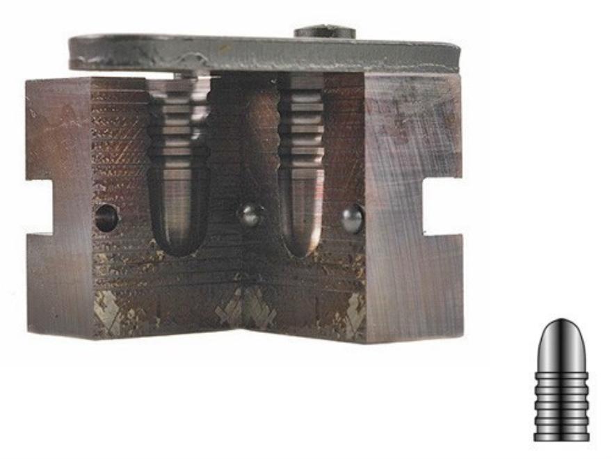 Lyman 1-Cavity Bullet Mold #457124 45 Caliber (458-459 Diameter) 385 Grain Round Nose