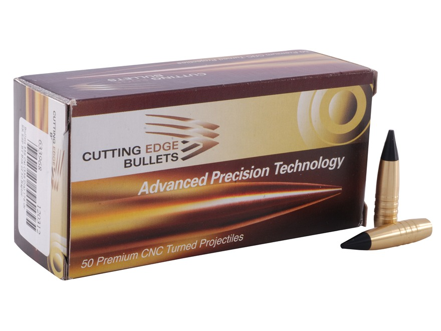 Cutting Edge Bullets ESP ER Raptor Bullets 338 Caliber (338 Diameter) 176 Grain Enhanced System Projectile Boat Tail Copper Lead-Free Box of 50
