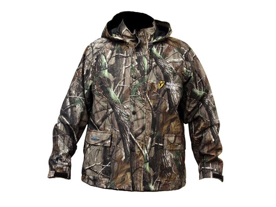 ScentBlocker Men's Scent Control Drencher Insulated Rain Jacket Realtree Xtra Camo