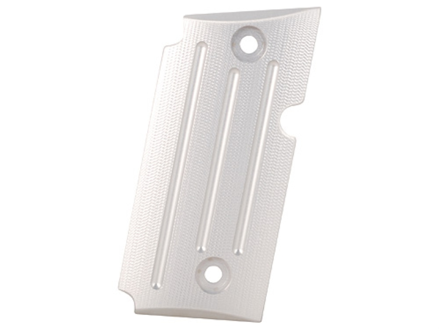 AlumaGrips Slimline Grips Sig Sauer P238 Textured with Vertical Grooves Aluminum Matte Silver