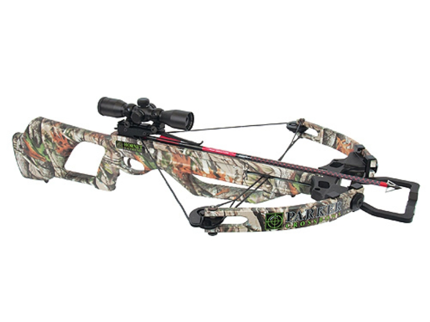 Parker Hornet Extreme 165 Crossbow Package with Illuminated Multi-Reticle Scope Next Vista Camo