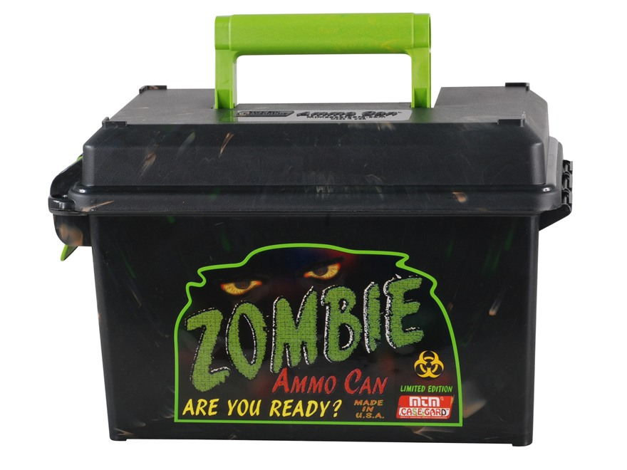 MTM Limited Edition Zombie Ammo Can 50 Caliber Plastic Black