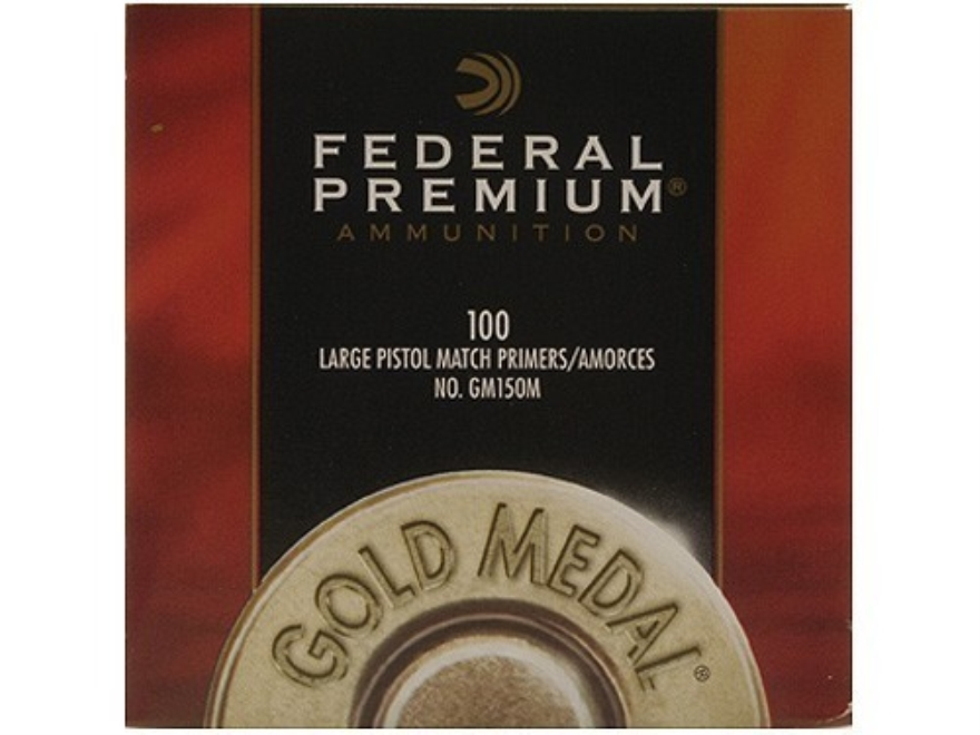 Federal Premium Gold Medal Large Pistol Match Primers #150M