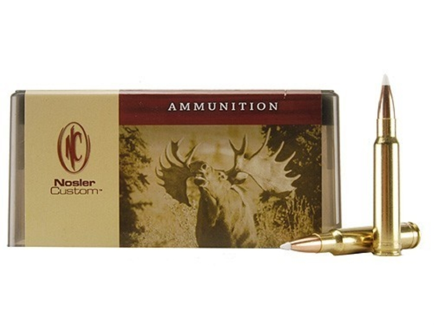 Nosler Custom Ammunition 338 Winchester Magnum 200 Grain AccuBond Spitzer Box of 20