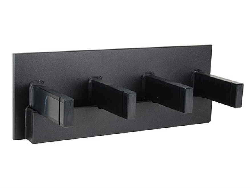 Plastix Plus AR-15 4-Gun Vertical Wall Mount with Magazine Storage Plastic Black