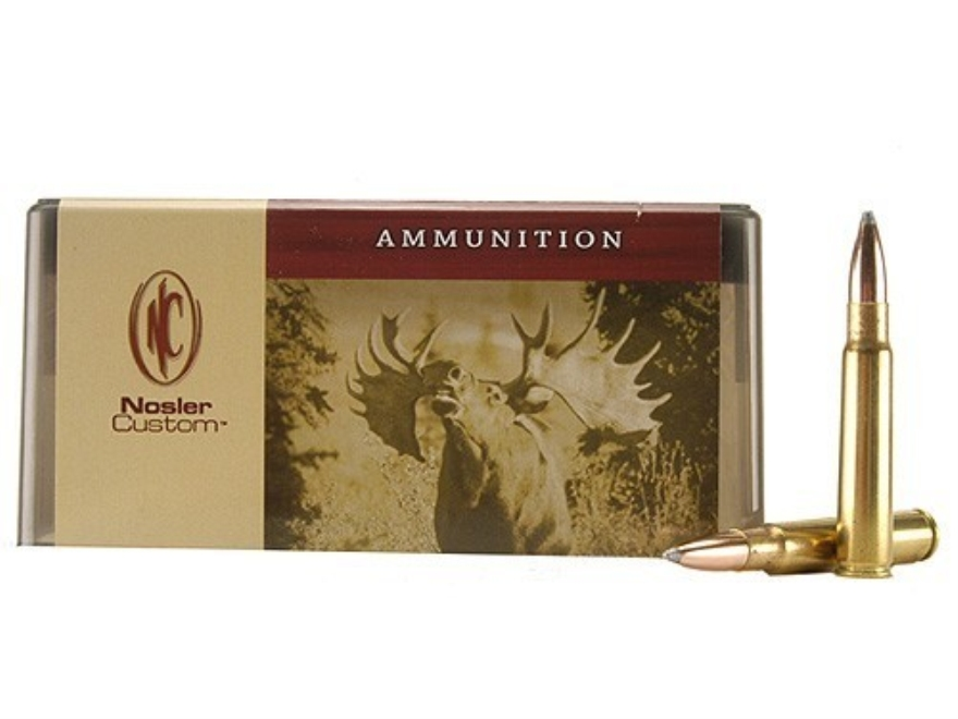 Nosler Custom Ammunition 8x57mm JS Mauser (8mm Mauser) 200 Grain Partition Spitzer Box of 20