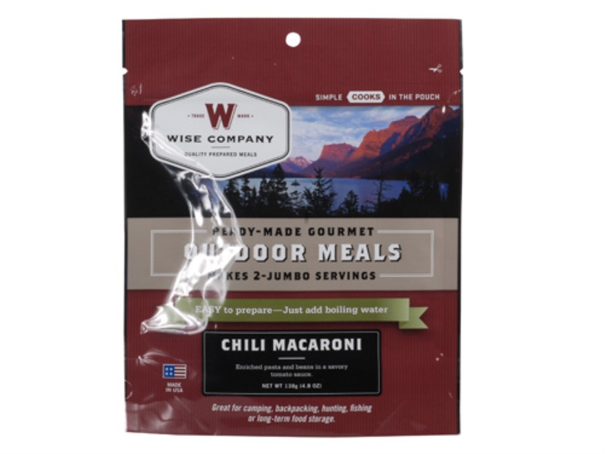 Wise Food Chili Macaroni with Beef Freeze Dried Meal 5.8 oz