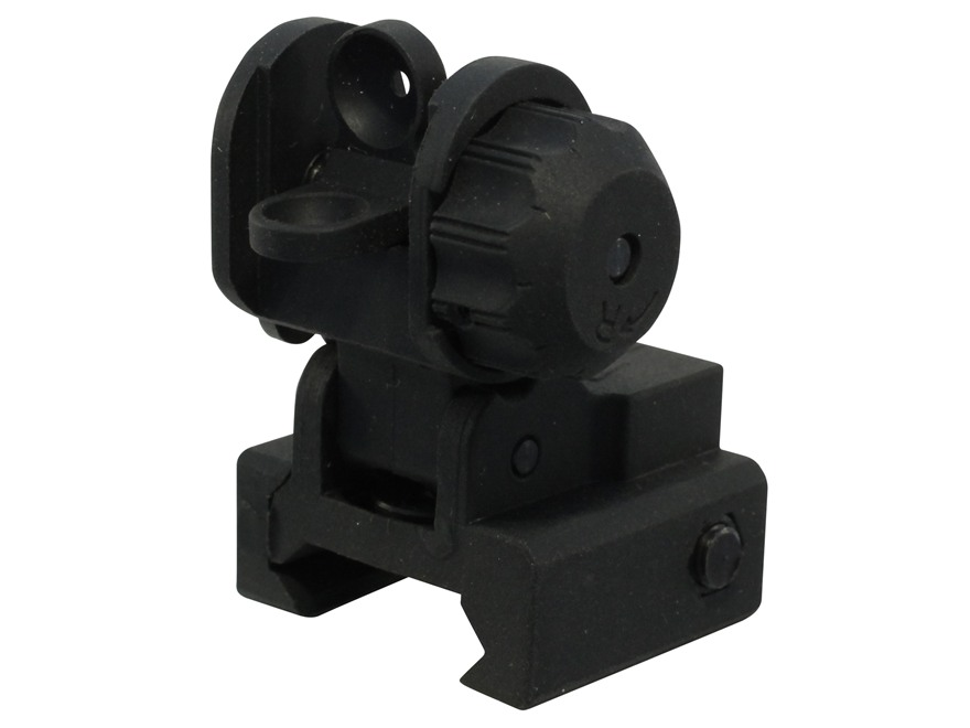 ProMag Sight AR-15 Flip-Up Rear A2 Dual Aperture Polymer Black