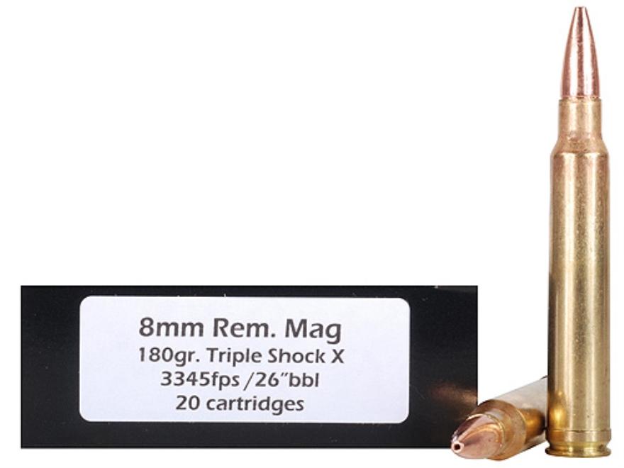 Doubletap Ammunition 8mm Remington Magnum 180 Grain Barnes Triple-Shock X Bullet Box of 20