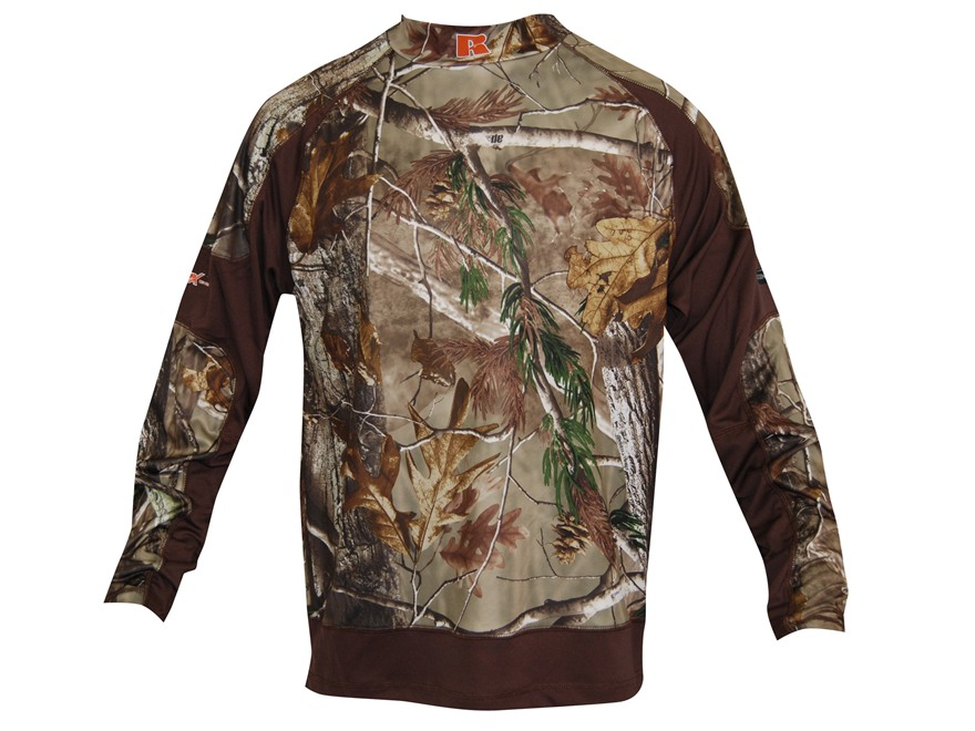 APX Men's L1 Alpine Base Layer Shirt Long Sleeve Polyester Realtree AP Camo Large 42-44